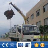 작은 유압 기중기 1 톤 너클 붐 트럭에 의하여 거치되는 기중기