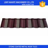 Couleurs personnalisées des tuiles de toiture enduites de Milan en métal de pierre de Chine