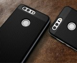 Caja de parachoques del teléfono móvil de la contraportada de la fibra del carbón del caso para Huawei