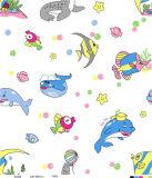 Het goedkope Niet-geweven Tafelkleed van pvc van de Steun van de Stof Plastic Kleurrijke Afgedrukte (TJ0356)