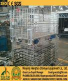 Rolle galvanisierter faltender Lager-Speicher-Stahlrahmen, Draht-Behälter, Ineinander greifen-Vorratsbehälter-Rahmen mit Zugkraft