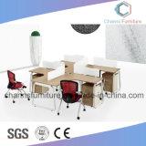 Büro-Entwurfs-Krippe-Gebrauch-Melamin-Partition mit Tisch