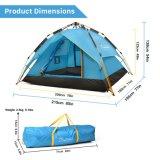 يحمل [وتربرووف] 3 فصل خيمة لأنّ [كمبينغ/2-3] شخص [كمب تنت]/[بكبكينغ] خيمة مع حقيبة