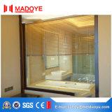 Ventana de aluminio del marco con las persianas eléctricas