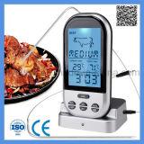Digital Alimentación sonda de carne Termómetro inalámbrico que cocina barbacoa Horno Termómetro digital