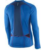 Chemise courante de longs de chemise demi de fermeture éclair de vêtements de sport d'hommes avec le logo fait sur commande