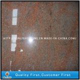 Inde Plaques en granit rouge multicolore pour les comptoirs / pierres tombales / carreaux de sol