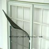 Fibra de vidrio revestida de la pantalla del insecto de la ventana del mosquito del PVC de la fábrica (negro/gris)