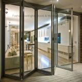 Feelingtop Toughened стеклянная теплозащитная роскошная дверь складчатости