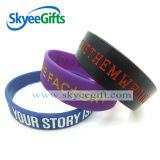 Silicones de bracelets de cadeaux de promotion avec le logo personnalisé