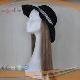 유태인 색깔 실크 최고 Virgin 머리 여자 실크 최고 가발