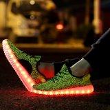 Wholesale LED Summer Light Shoes com malha projetada