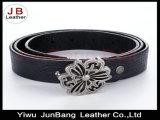 Courroie élastique de polyester de boucle de fleur en métal pour des dames