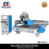 Maquinaria de carpintería de madera del CNC de los muebles con el cambiador auto de la herramienta (Vct-CCD1530atc)