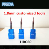 Gold Working HRC60를 위한 1.8mm Customized Tools