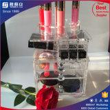 Torre de giro de acrílico del maquillaje del lápiz labial del nuevo item al por mayor