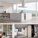 高品質の白い薄板にされた台所家具
