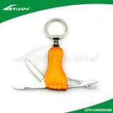 승진을%s 발 모양 접히는 선물 Keychain