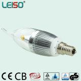 330 bulbo de la vela de la viruta E14/B15 del CREE de la aprobación del TUV del grado