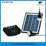 USB Charger、2lampsとの携帯用Solar Power Lighting System