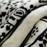 Arbeitsweg-Begleiter-schwarzer Voile-Elefant gedruckter Schal