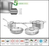 5つの層ボディ複合材料の調理器具セット