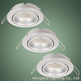 Montage enfoncé par LED réglable Downlight de plafonnier de GU10 MR16