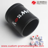 Cylindrical su ordinazione Leather Gaming Dice Cup con Dice per Party
