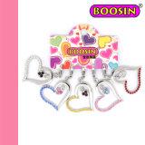 A cor-de-rosa apedreja o encanto de cristal #11278 do coração elegante