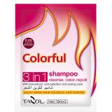 Produit de beauté coloré foncé de teinture de cheveu de shampooing de Brown d'utilisation de Chambre