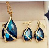De uitstekende Levering voor doorverkoop van de Juwelen van de Manier van de Juwelen van de Oorringen van de Halsband van de Tegenhanger van het Kristal van Afrika Vastgestelde