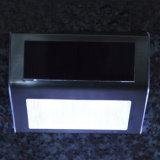 Minigröße rostfreies Steel+ABS+PC weißes/warmes weißes Bahn-Plattform-Pfad-Jobstepp-Treppenhaus-Treppen-Solarlicht-Solarlampe der Farben-2 LED helles