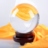 Ясное Crystal Glass Ball с Base для Wedding Favor Home Decoration