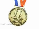 Medalla suave del esmalte de Sprot del maratón de la aleación de encargo del cinc con la cinta