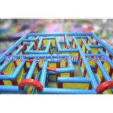 Labirinto gonfiabile gonfiabile dei militari del labirinto del labirinto di uso commerciale della strumentazione della sosta/del laser modifica gigante del laser