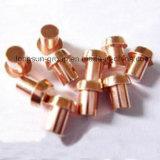 Rebites contínuos do cobre de /Electrical dos pontos de contato moventes de cobre puros