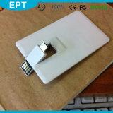 Lecteur flash USB par la carte de crédit de forme d'affaires en plastique d'OTG (TD216)