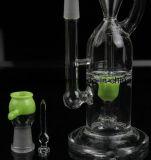Tubo di fumo di vetro della clessidra per il fumo con la sfera Perc trasparente