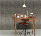 Etiqueta engomada grabada sala de estar no tóxica de la pared de la espuma del PE del fondo 3D