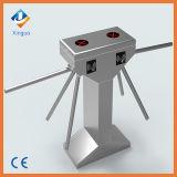 304 porta elétrica do torniquete do leitor de cartão do controle de acesso RFID do tripé do aço inoxidável