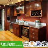 Fabbrica di legno dell'armadio da cucina della Cina dell'unità dell'armadio da cucina del teck solido