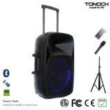 15 Zoll PA-im Freien drahtlose Lautsprecher-mit blauem LED-Licht
