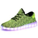 Großhandels-LED-Sommer-Licht-Schuhe mit dem Ineinander greifen konzipiert