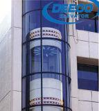 Elevación de visita turístico de excursión de lujo del elevador de la cápsula de cristal