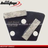 Двойник металла Bond делит на сегменты плиту конкретного диаманта трапецоида пола меля