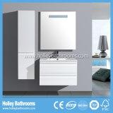 LEDの接触スイッチ新しい現代光沢度の高いペンキの浴室のキャビネットの単位デザイン新式の浴室の家具(BF128M)