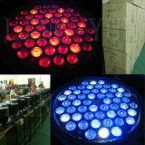 Wit LEIDEN van de Disco Licht 54PCS 3W RGBW van DJ van het Stadium van DMX Ly PARI