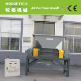 plástico de residuos industriales de doble eje de la máquina trituradora