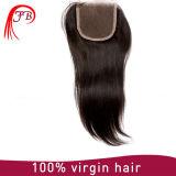 Закрытие волос Remy девственницы 13*4 людское бразильское