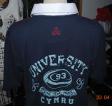 공장 주문 로고 간결 소매 폴로 t-셔츠